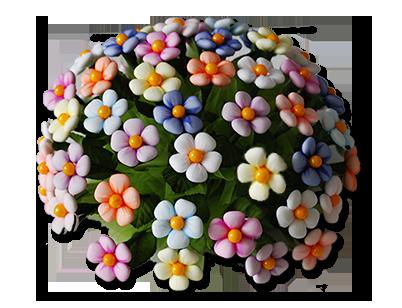 Boquet margherite di confetti di sulmona